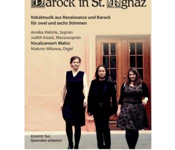 Konzertplakat des Vocalconsort Mainz